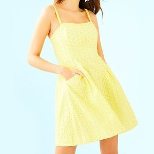 NEW Lilly Pulitzer Yellow Blossom Dress—6